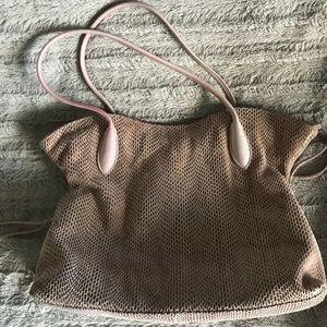 Sorial lilac snakeprint shoulder bag